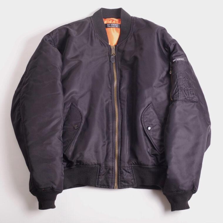 vintage raf simons bomber jacket archival
